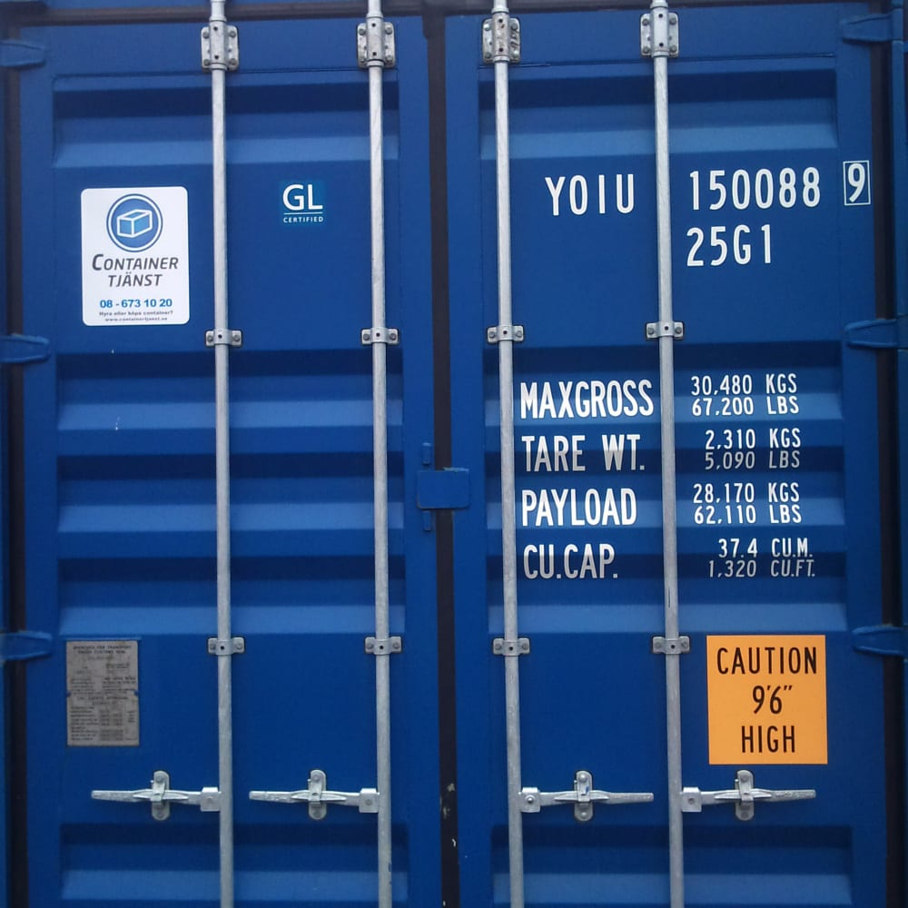 Container 20 fot high cube